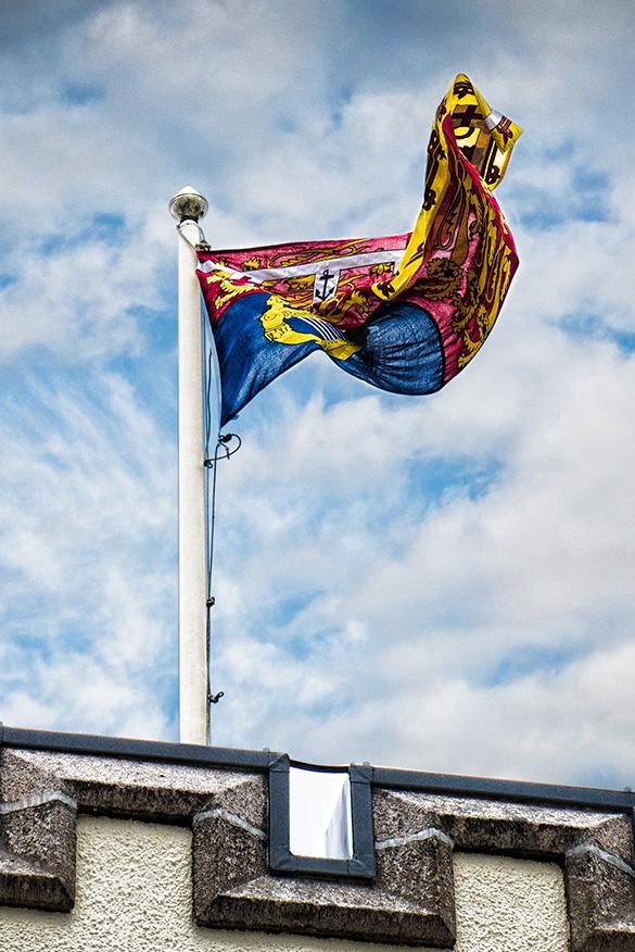 Flag at Douneside House
